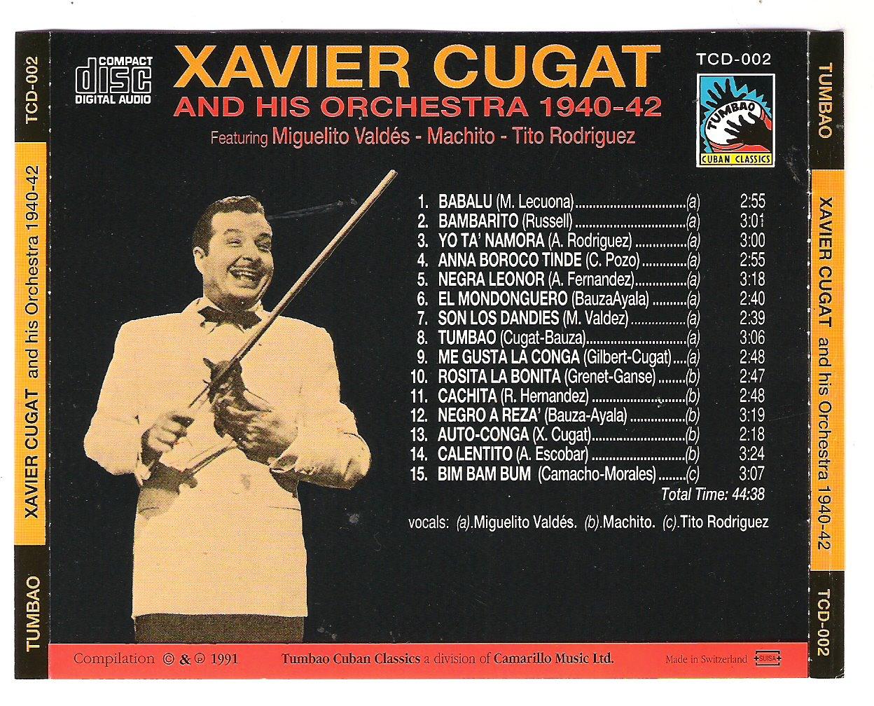 Xavier Cugat And His Orchestra Latin Reflections